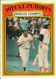 1972 Topps Baseball Cards      222     AL Playoffs Brooks Robinson